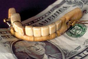 george washington lower denture.