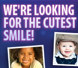 Entering your child's cutest smile photo could win you VISA gift cards!