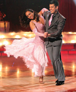 Cheryl Burke dancing with Rob Kardashian.