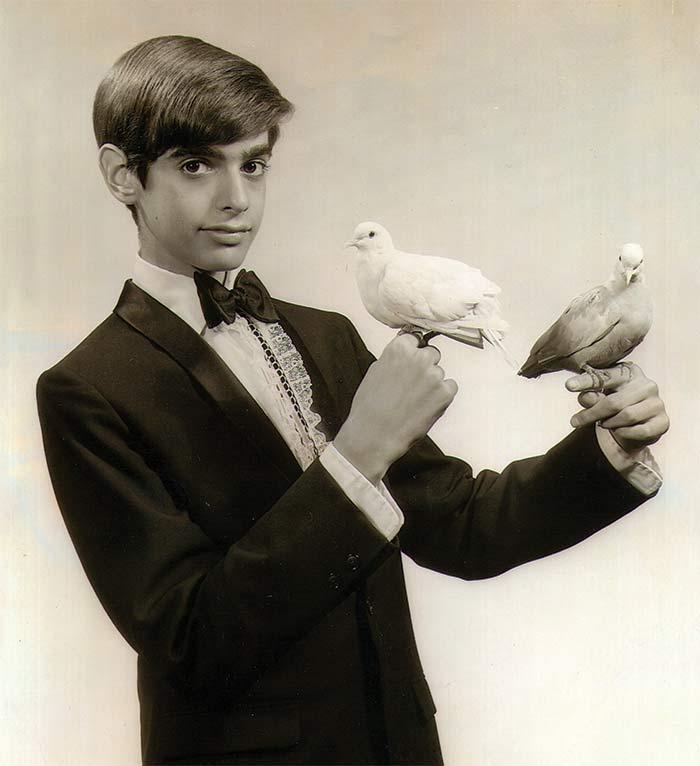 David Copperfield childhood photo performing magic.