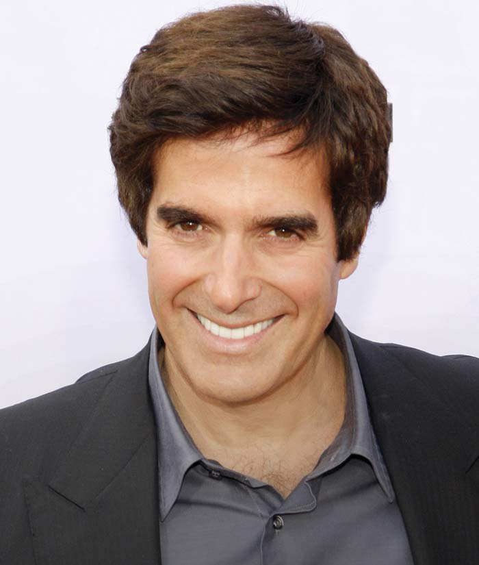 David Copperfield smile - cosmetic dentistry crowns.