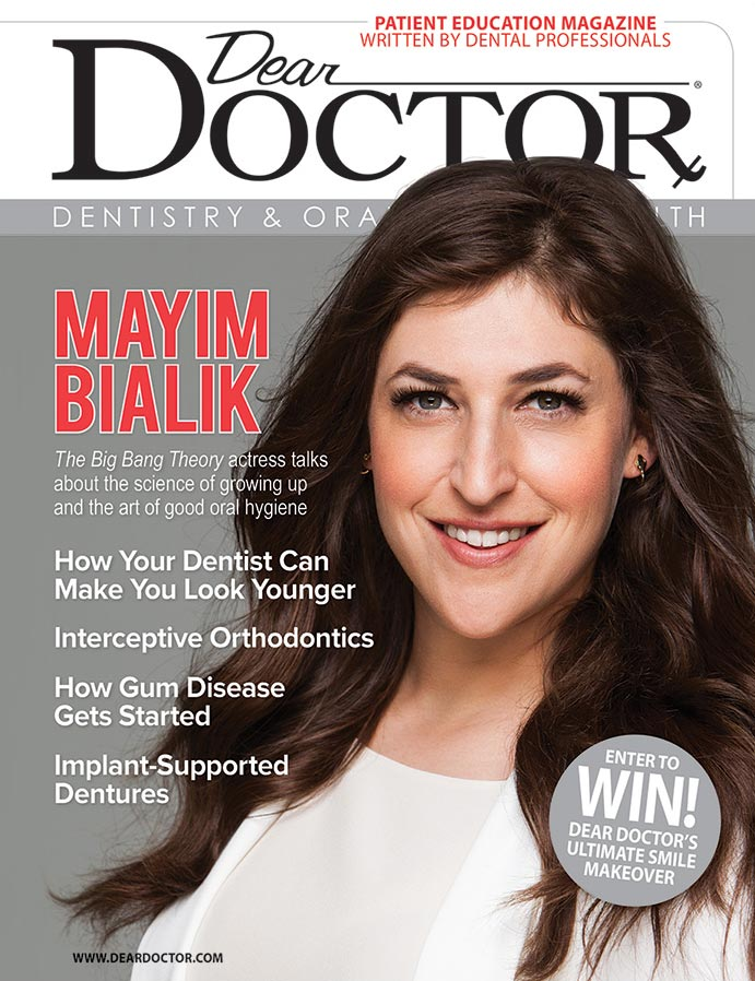 Mayim Bialik Dear Doctor Magazine Cover.
