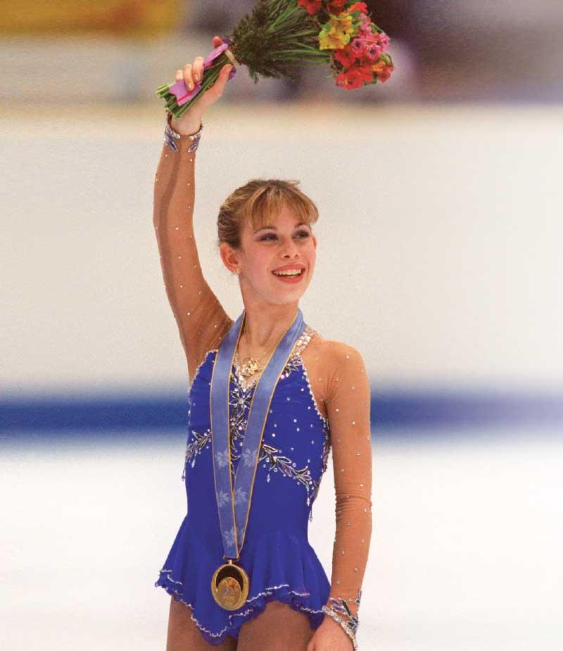 Tara Lipinski skating.