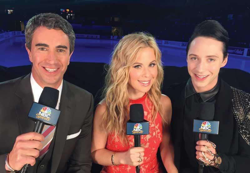 Tara Lipinski Olympic NBC Commentator.