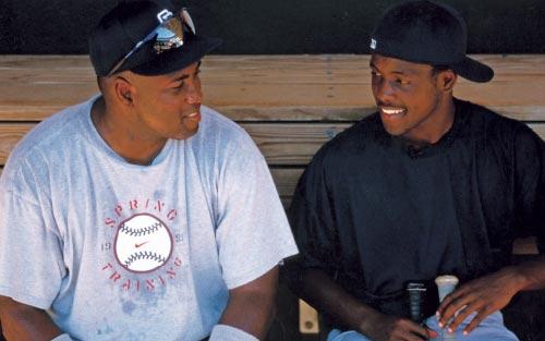 Tony Gwynn with son Tony Gwynn Jr.