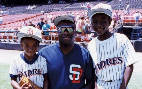 Tony Gwynn with daughter and son Tony Gwynn Jr.