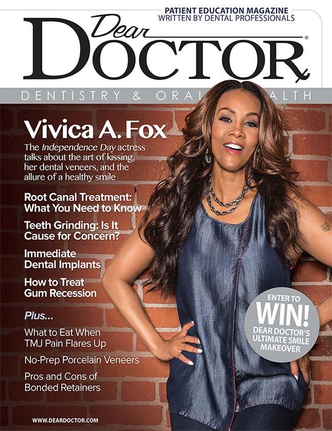 Vivica A. Fox - Dear Doctor magazine.