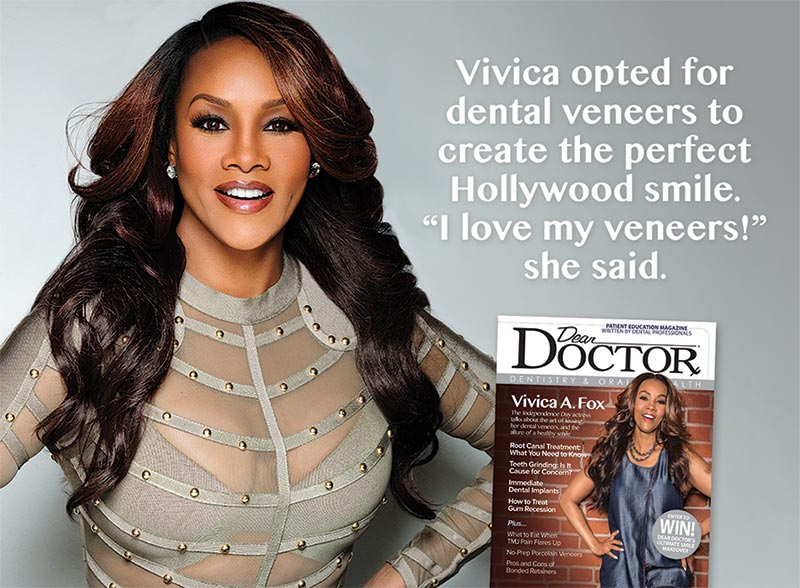Vivica A. Fox Porcelain Veneers.