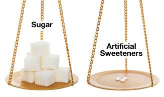 Sugar vs artificial sweeteners.