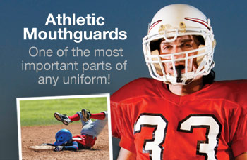 Athletic mouthguards prevent sports injuries.