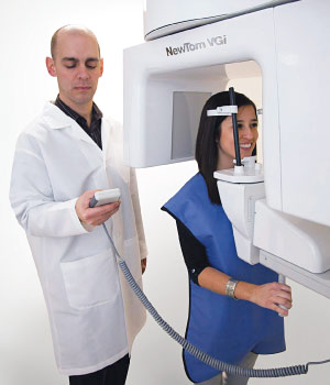 Cone beam dental scanner.