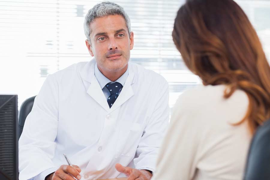 Dentist consultation with hiv-positive patient.
