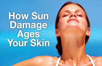 How sun damage ages your skin.
