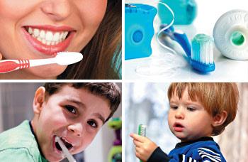 Oral hygiene behavior.