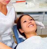 Dental patient in office.
