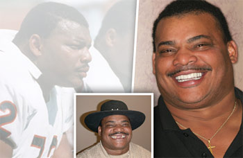 Refrigerator perry's smile makeover.