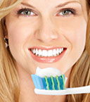 Teeth whitening toothpastes.