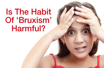 Children grinding teeth - bruxism.