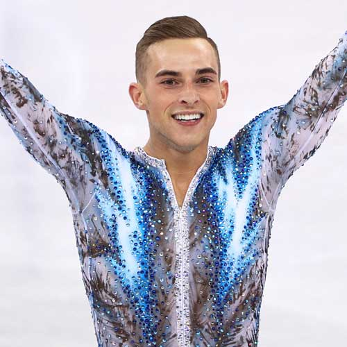 Olympian Adam Rippon's Smile & Skating Equally Dazzling