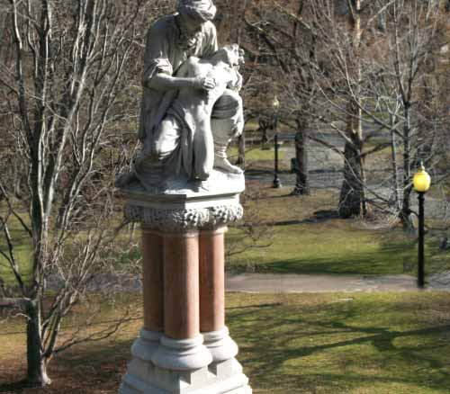 The First Statue Built in Boston Public Garden Is Dedicated to Anesthetic Gas