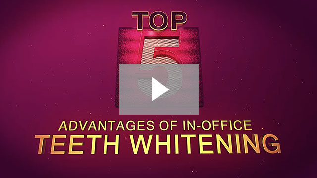 Top 5 Advantages of In-Office Teeth Whitening