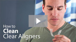 video on how to Clean Clear Aligners