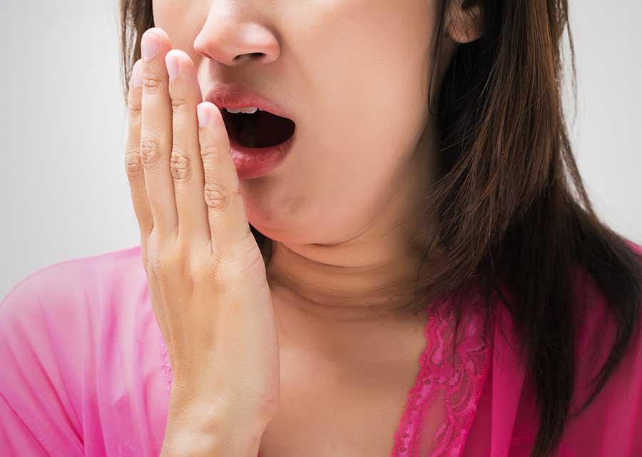 Bad breath.