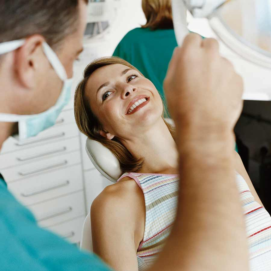 Dental exam.