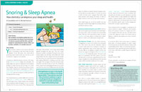 Snoring - Dear Doctor Magazine