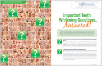 Teeth Whitening Answers - Dear Doctor Magazine - Fayetteville NC