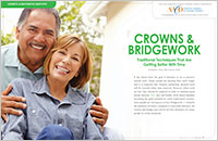 Crowns and Bridgework - Dear Doctor Magazine
