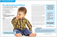 Thumb Sucking in Children - Dear Doctor Magazine
